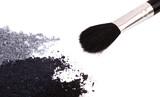 Fototapety Powder eyeshadow makeup and brush
