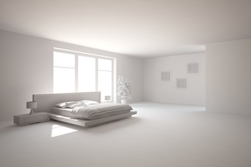 abstract interior design of bedroom