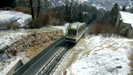 Train of Hungerburgbahn. Innsbruck, Austria