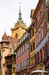 Ville alsacienne et son église
