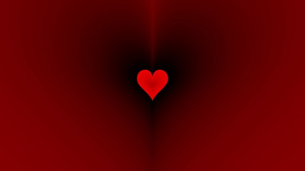 Oncoming red heart. Animation for St. Valentine's Day