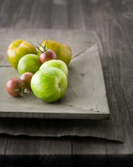 Green Zebra and Black Cherry Tomatoes