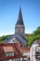 Altstadt mit Kirche St. Mariä Heimsuchung, Warburg