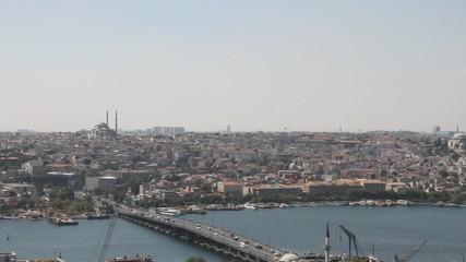 Ataturk bridge in area Unkapany. Istanbul, Turkey