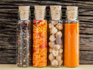 Food Cooking ingredients. - Spice taste with copy space.