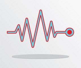 Vector Illustration Heart beat, cardiogram