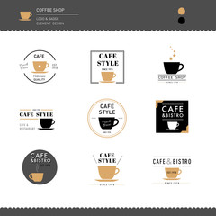 Collection of Coffee shop Logo Design for cafe business