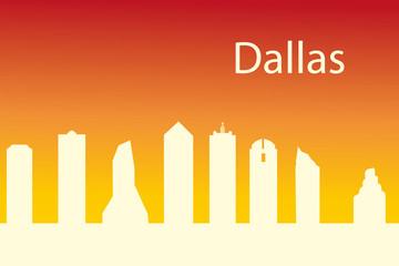 Dallas USA city skyline silhouette vector illustration