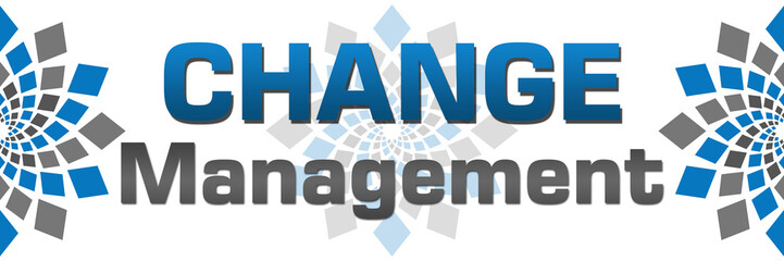 Change Management Blue Grey Squares Horizontal