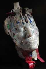 mask art objects recycling plastics 5