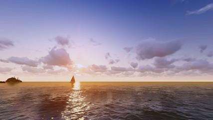 Yelkenli Deniz Manzarası