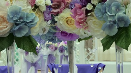 wedding decoration fabric color purple tone