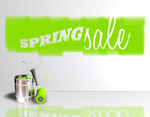 Spring Sale - Farbeimer - Wand