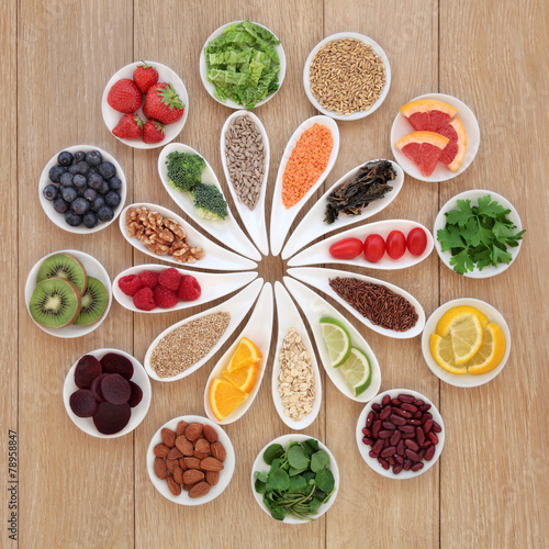 Fotobehang Assortiment Health Food Wheel