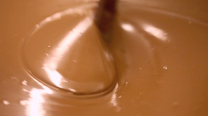 background of melted chocolate wave