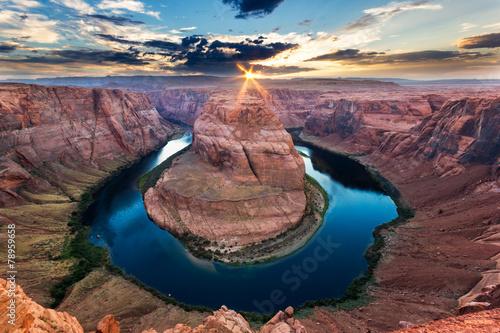 Horseshoe Bend, Colorado River, Grand Canyon, Arizona - 78959658