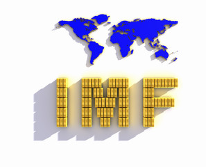 Sign IMF on white background