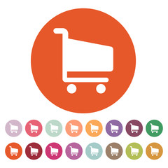 The cart shoping icon. Shop Cart symbol. Flat