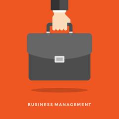 Flat design vector business illustration concept