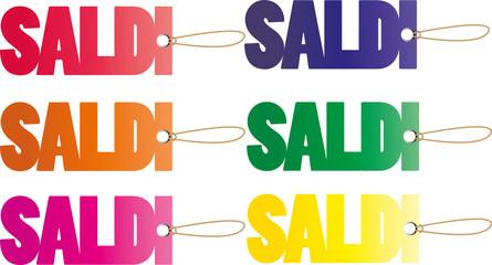 Etichette con scritta SALDI