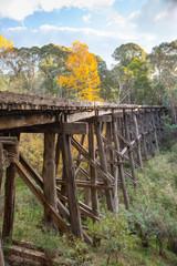 Old Trestle Bridge in Koetong