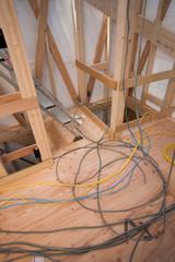 住宅建設 室内の電気配線
