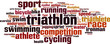 Triathlon word cloud concept. Vector illustration - 78960803