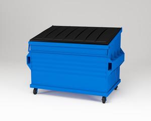 Blue trashbox.