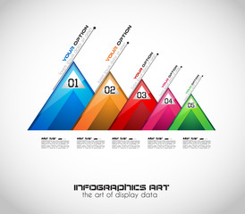 Modern Abstract Infographic template to display data