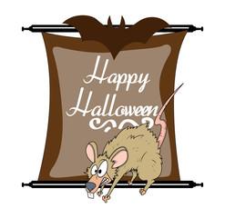Halloween Scared Rat Character