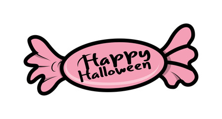 Happy Halloween Candy Banner