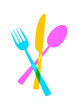 Cutlery vector icon on white background - 78963232