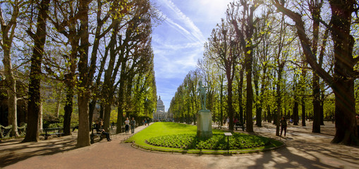 The main avenue in the Luxembourg Gardens