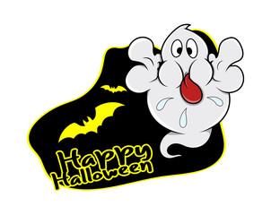 Happy Halloween Ghost Vector Graphic