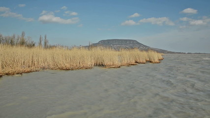 Wind storm in Szigliget at Lake Balaton, Hungary