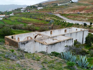 Ruins in Betancuria on Fuerteventura in Spain