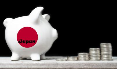 Japanese saving concept