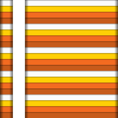 Colorful horizontal stripes background in warm colors with white