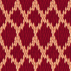 Viper skin red seamless pattern
