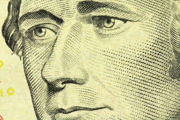 Portrait of Alexander Hamilton close up