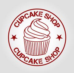 stamp cupcake shop