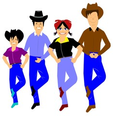 line dancers western style