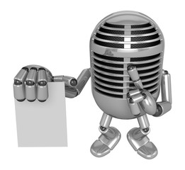 3D Classic Microphone to right hand hush gestures and left hand