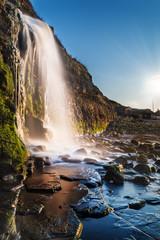 Waterfall at Kimmeridge Bay in Dorset