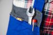 Leinwanddruck Bild - Schraubenschlüssel phasenprüfer