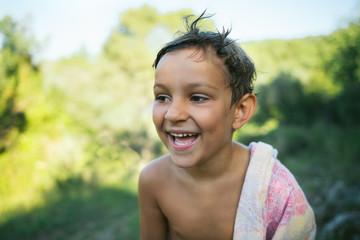 Portrait of a cute 5 year old boy