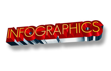 Infographics sign in 3D text