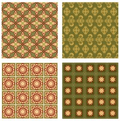 Background tile set in art deco style with geometric patterns
