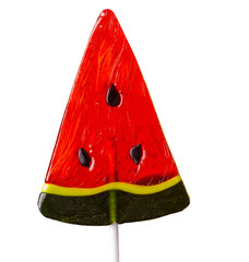 lollipop in the form of a watermelon