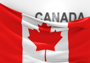 Canada flag and country name